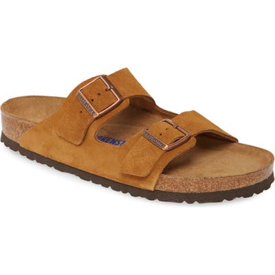 Birkenstock Arizona Soft Slide Sandal, Brown