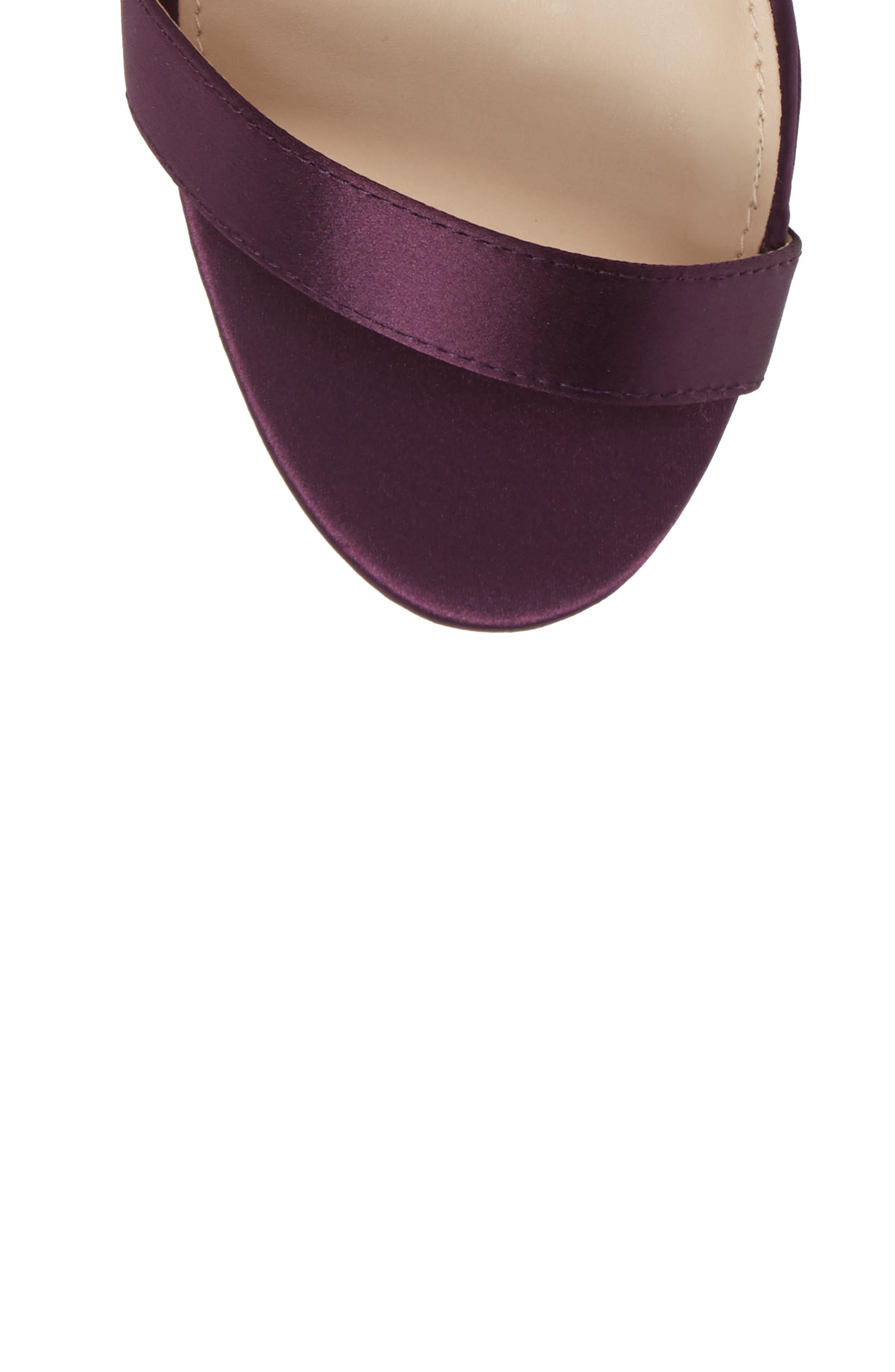 ,                             Fayth Jeweled Ankle Cuff Sandal,                             Alternate thumbnail 5, color,                             EGGPLANT SATIN