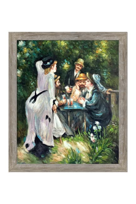 Image of Overstock Art In The Garden Framed Oil Reproduction Wall Art by Pierre-Auguste Renoir