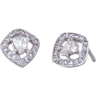 Sethi Couture Rose-Cut Diamond Stud Earrings