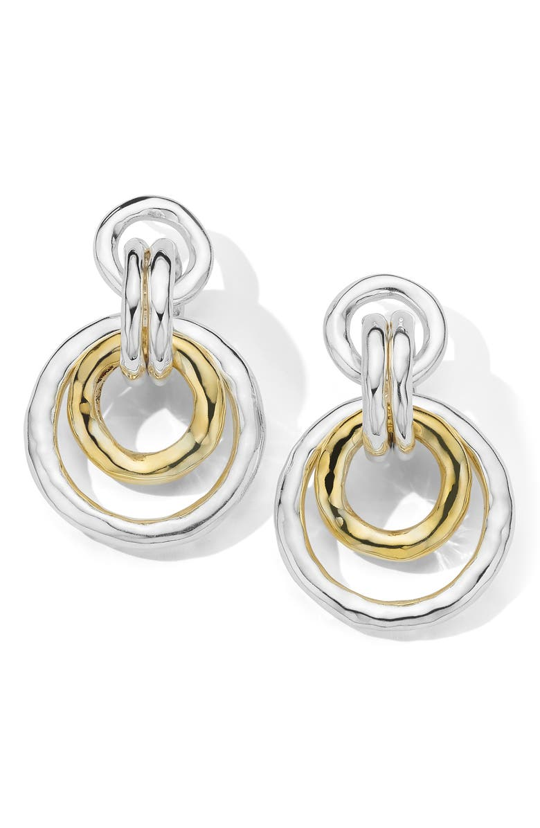 IPPOLITA Chimera Classico Medium Drop Hoop Earrings, Main, color, SILVER