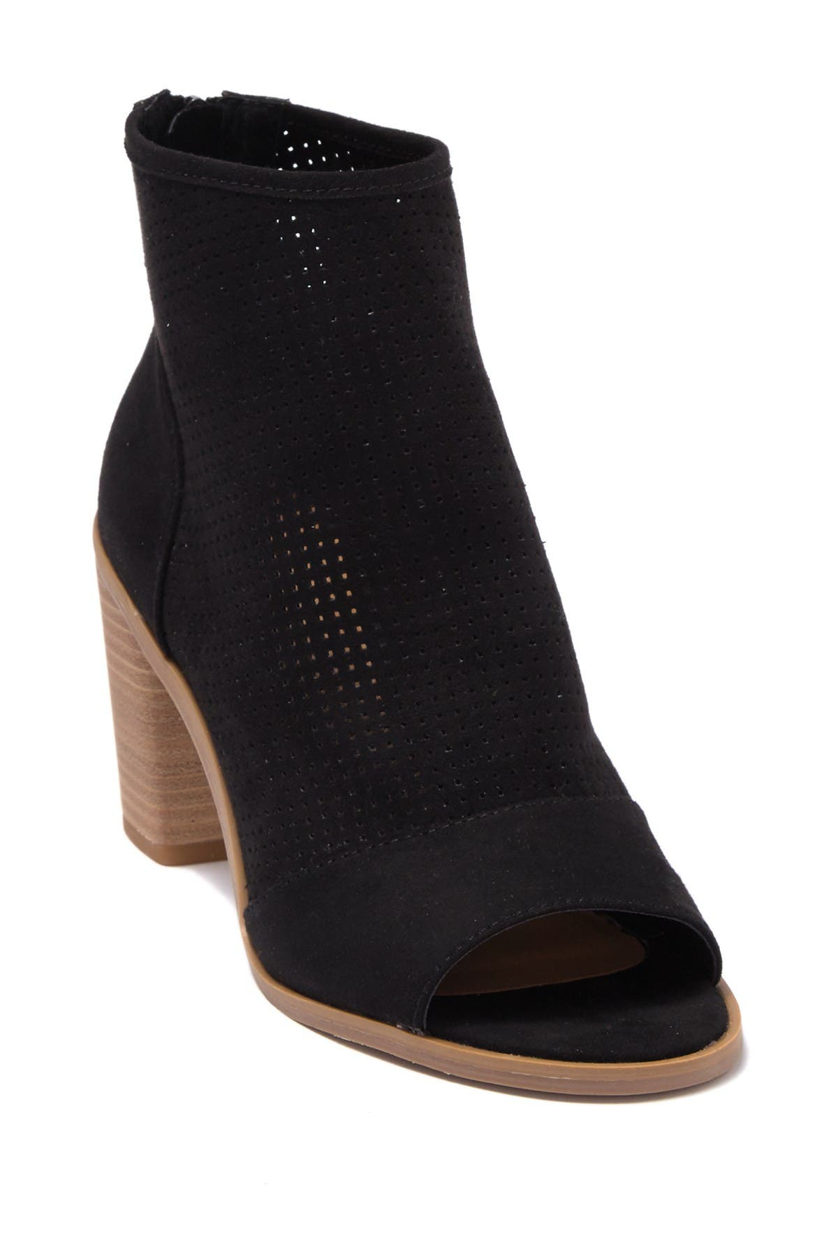 Abound   Perforated Peep Toe Bootie