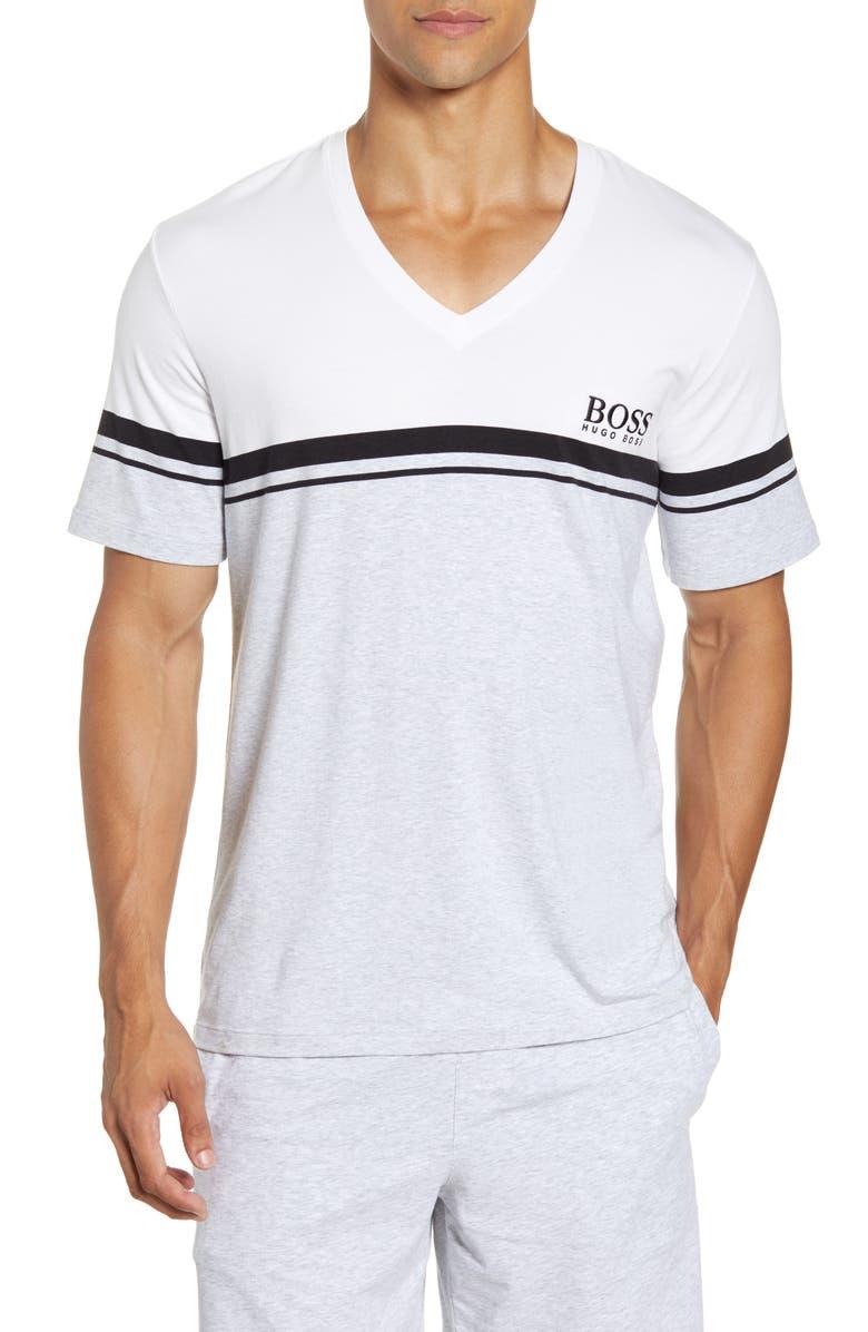 BOSS Stripe V-Neck T-Shirt, Main, color, 035