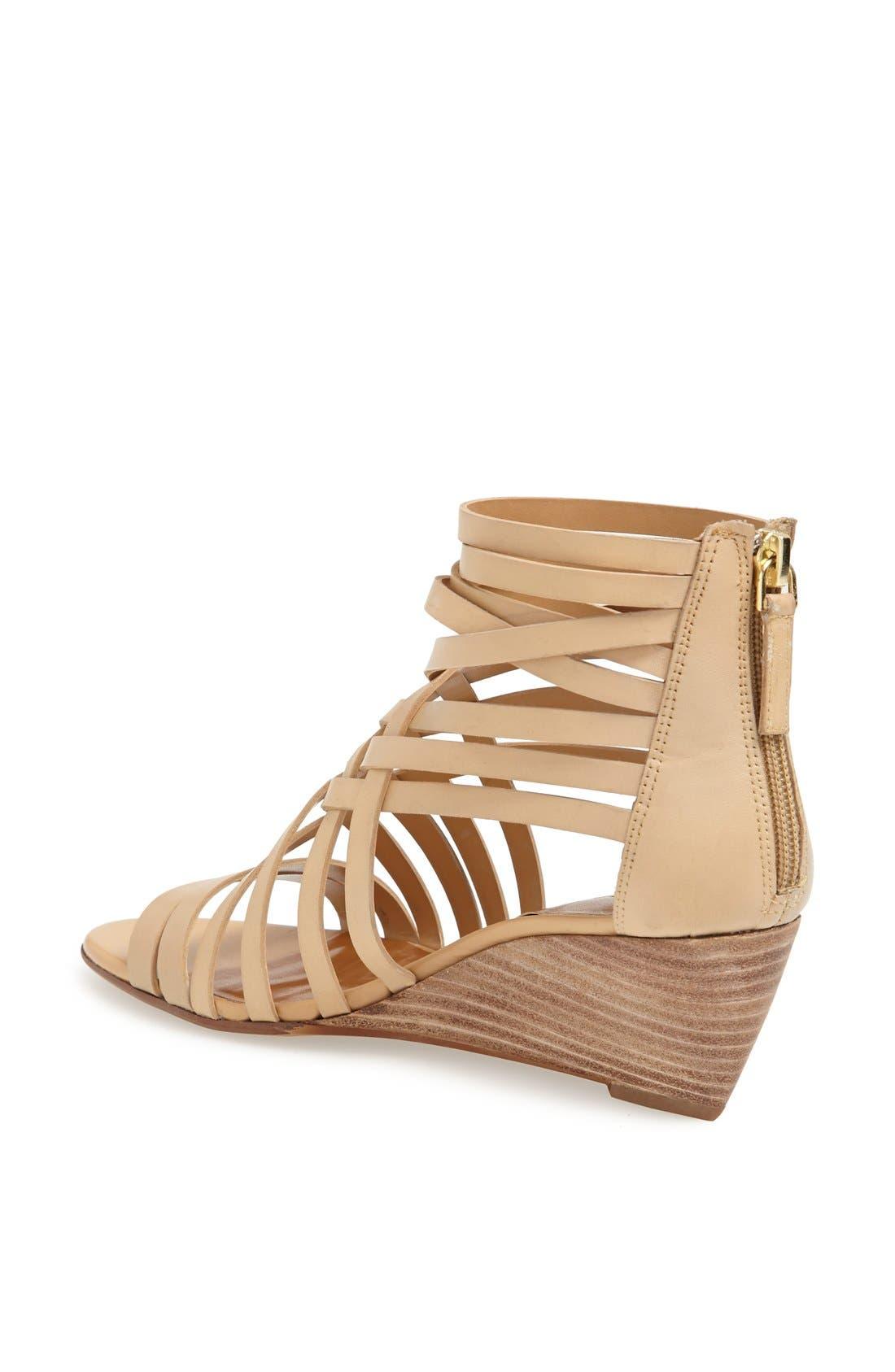 ,                             'Neta' Leather Wedge Sandal,                             Alternate thumbnail 18, color,                             252