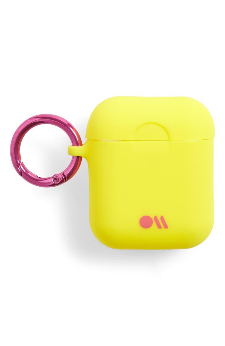 CASE-MATE<SUP>®</SUP> Case-Mate Hook Ups AirPod Case, Main, color, LEMON LIME