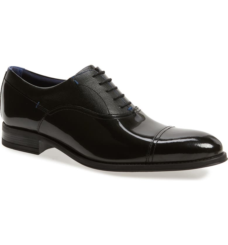 TED BAKER LONDON Fharen Cap Toe Oxford, Main, color, BLACK