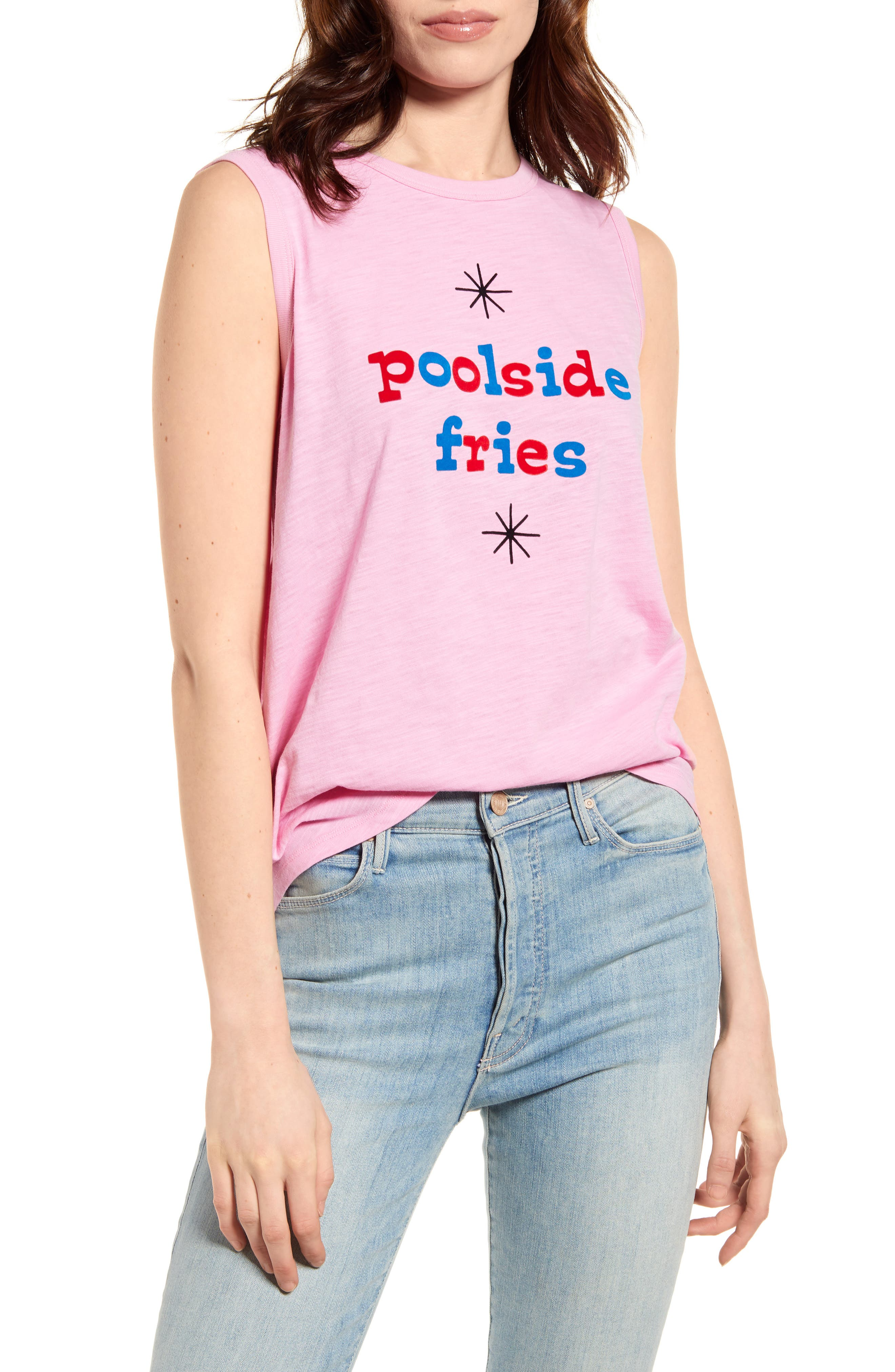Women's Ban. do Poolside Fries Graphic Muscle Tee