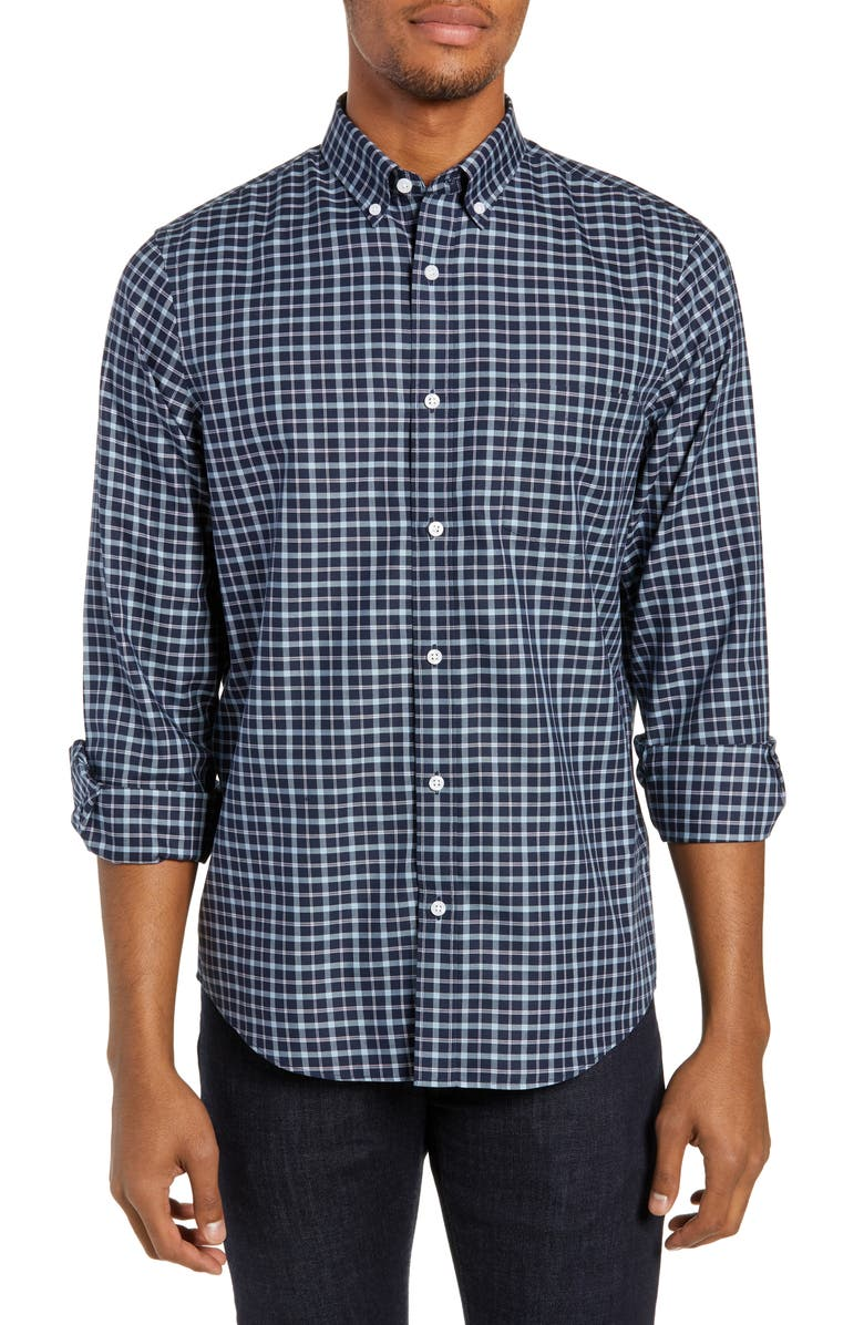 NORDSTROM MEN'S SHOP Smartcare<sup>™</sup> Regular Fit Check Shirt, Main, color, 410