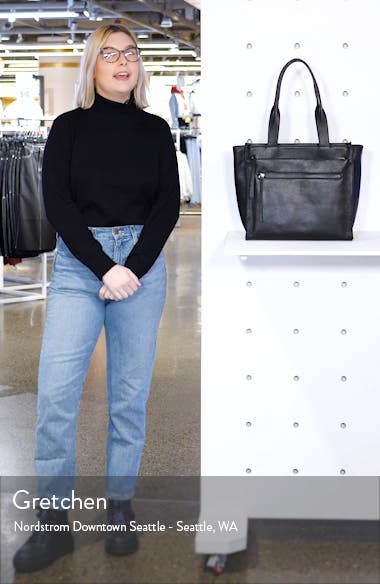 Finn Pebbled Leather Tote, sales video thumbnail