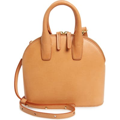 Mansur Gavriel Mini Top Handle Rounded Leather Bag - Brown