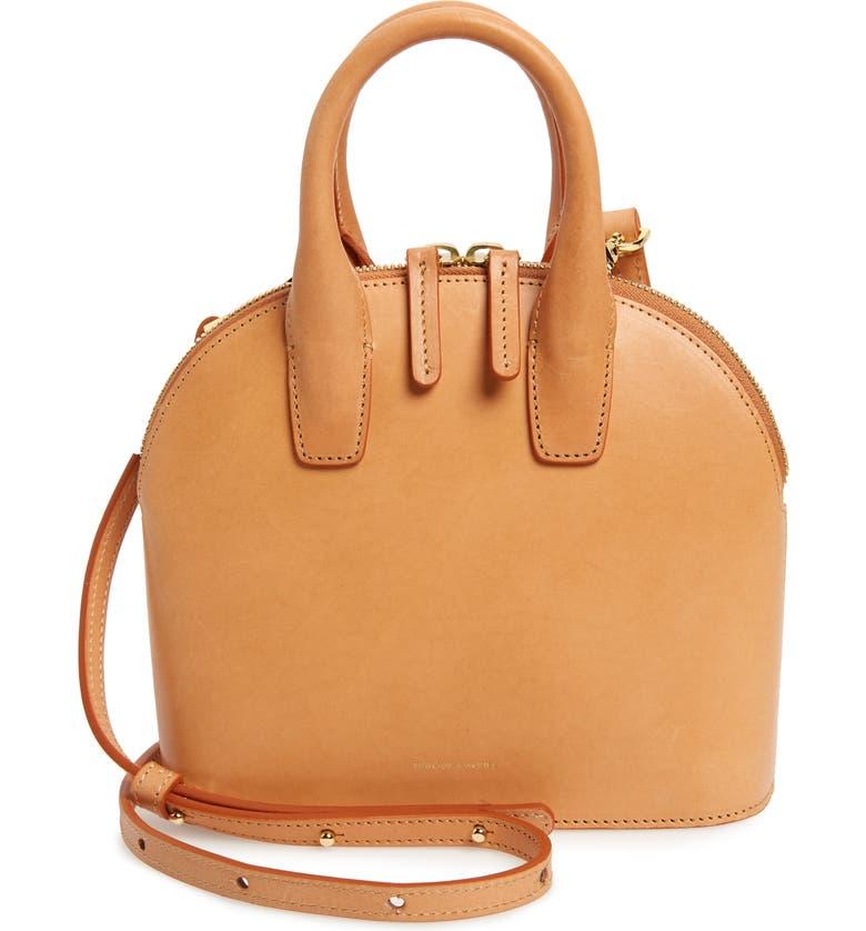 MANSUR GAVRIEL Mini Top Handle Rounded Leather Bag, Main, color, 200