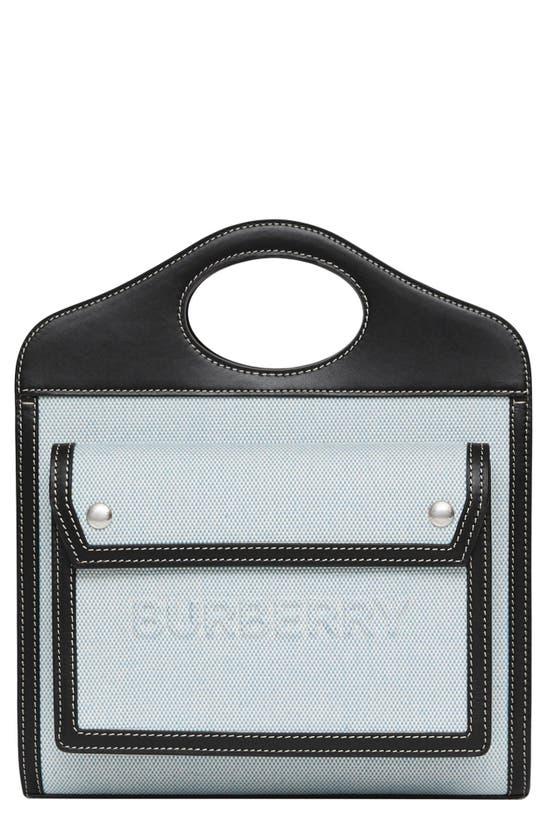 Burberry Canvases MINI LOGO CANVAS & LEATHER POCKET BAG