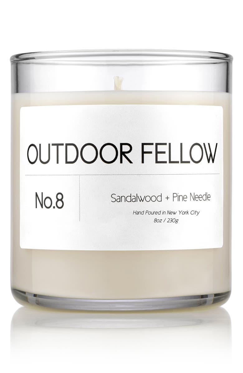 OUTDOOR FELLOW No. 8 Sandalwood + Pine Needle Scented Candle, Main, color, SANDALWOOD/ PINE