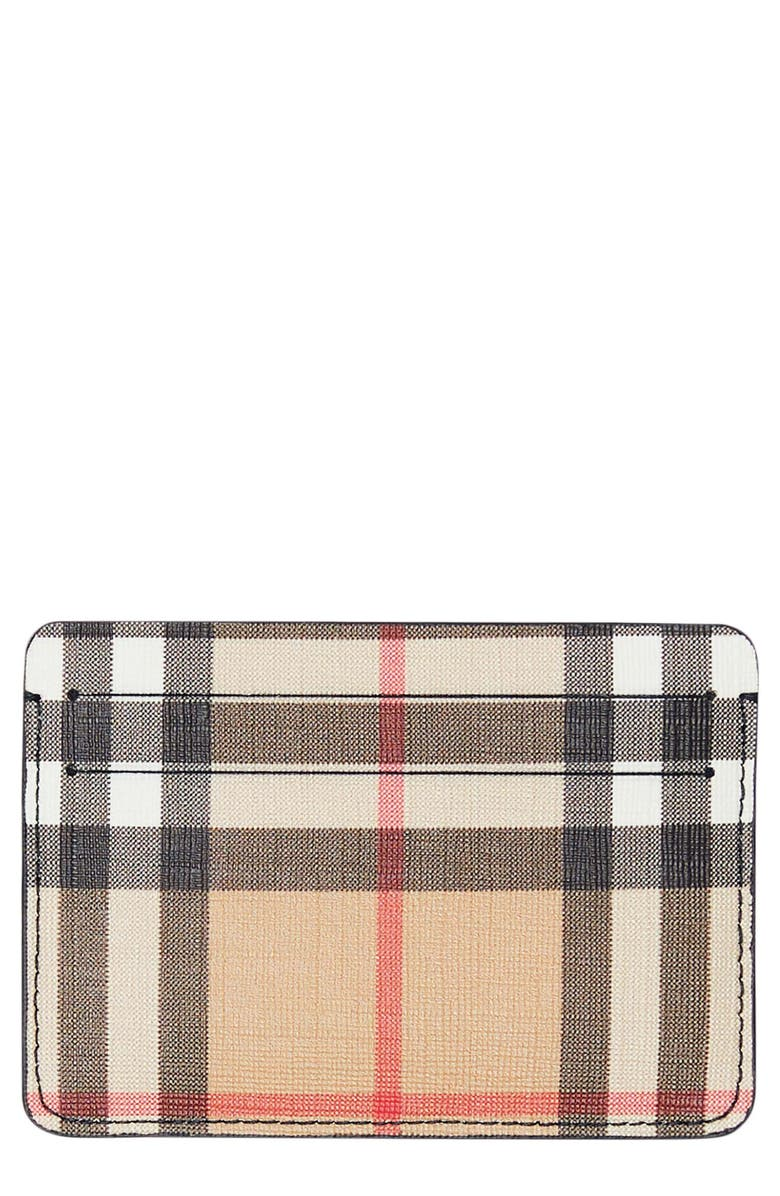Sandon Vintage Check Card Holder by Burberry
