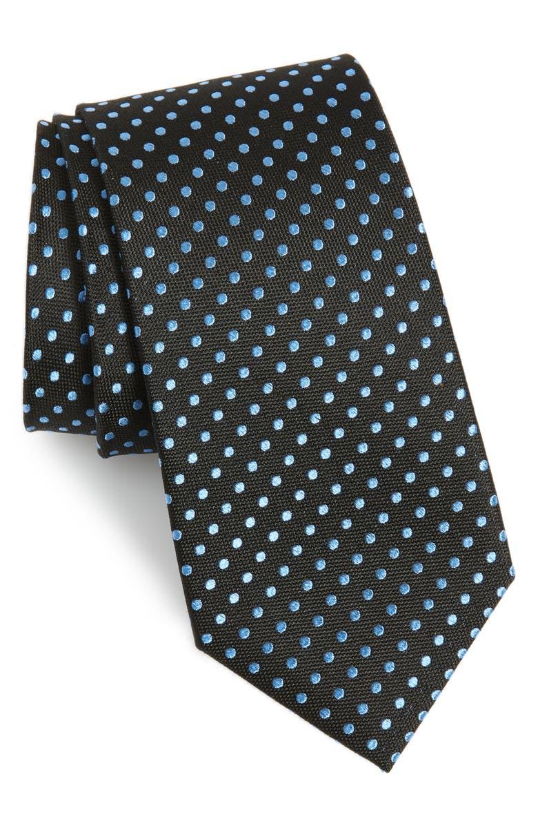NORDSTROM MEN'S SHOP Norton Dot Silk Tie, Main, color, 002