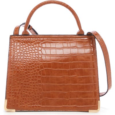 Sole Society Faux Leather Crossbody Bag - Brown