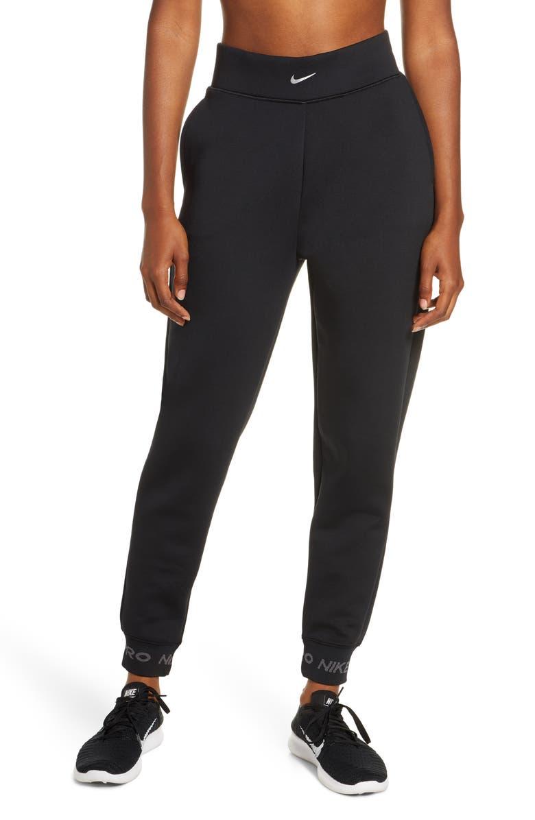 NIKE Pro Dri-FIT Fleece Pants, Main, color, 001