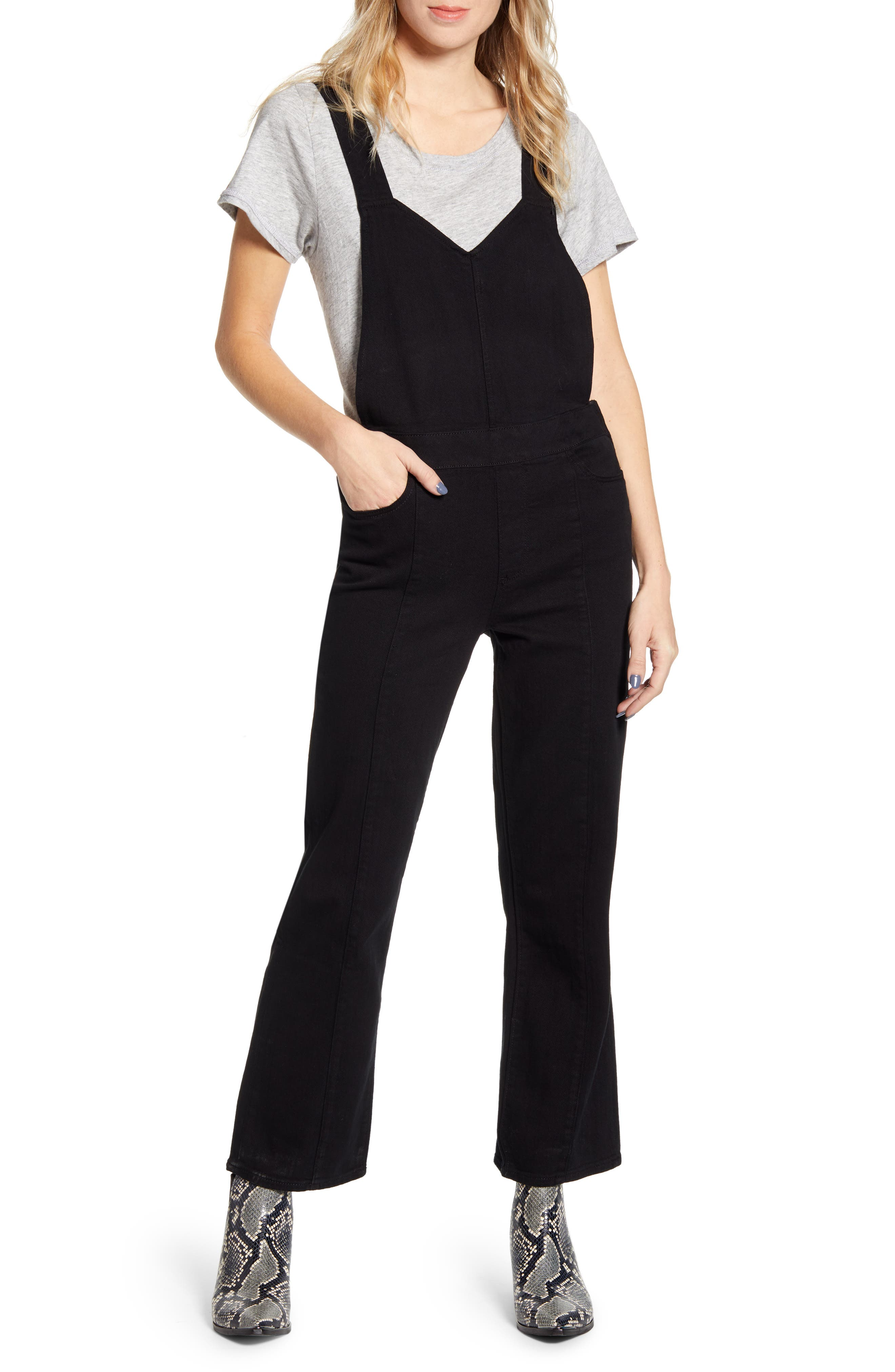 Paige Suits Atley Crop Flare Overalls