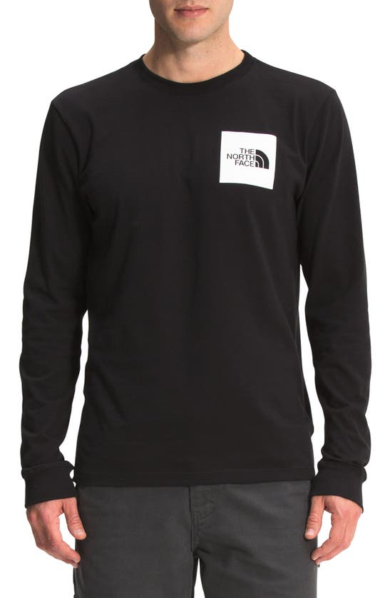 The North Face Cottons FINE LOGO LONG SLEEVE GRAPHIC TEE