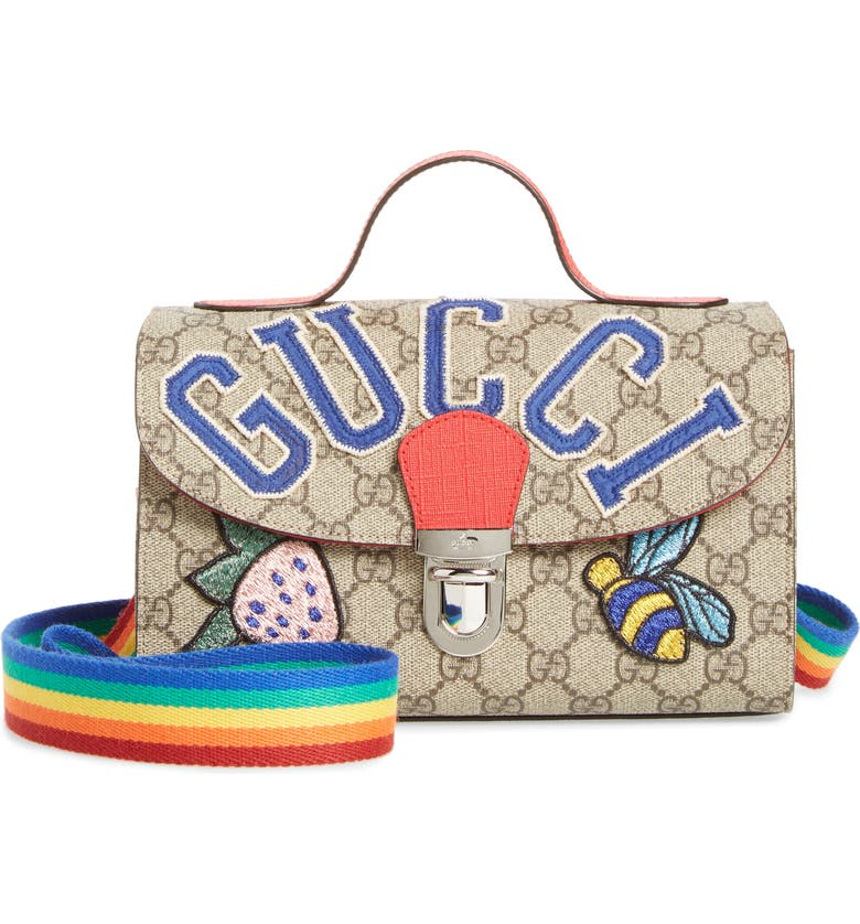 adf4f4191 Gucci Junior GG Supreme Canvas Top Handle Bag (Kids) | Nordstrom
