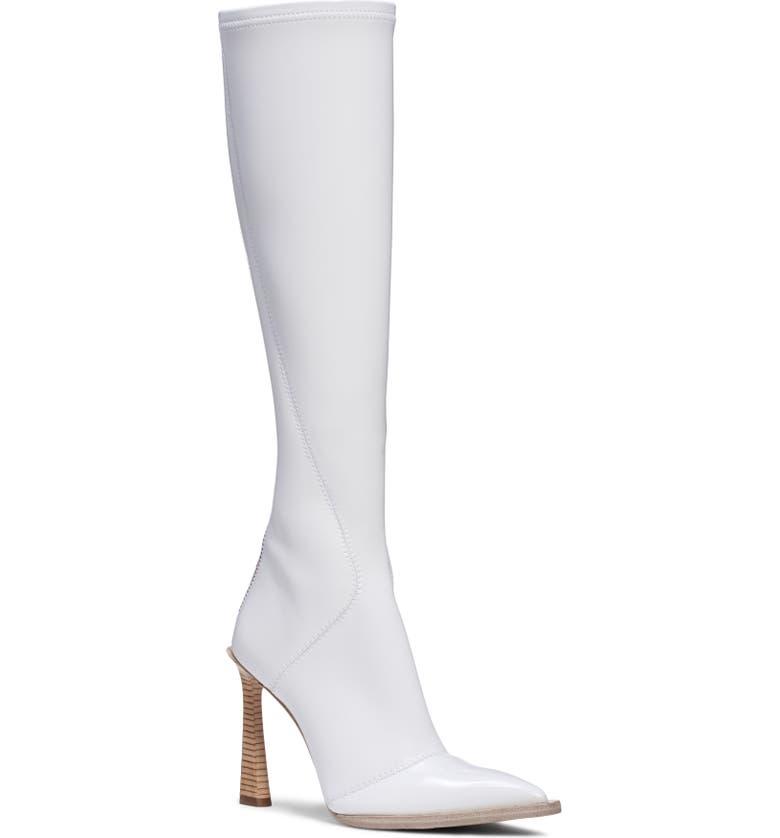 FENDI Stivale Patent Tall Boot, Main, color, WHITE PATENT