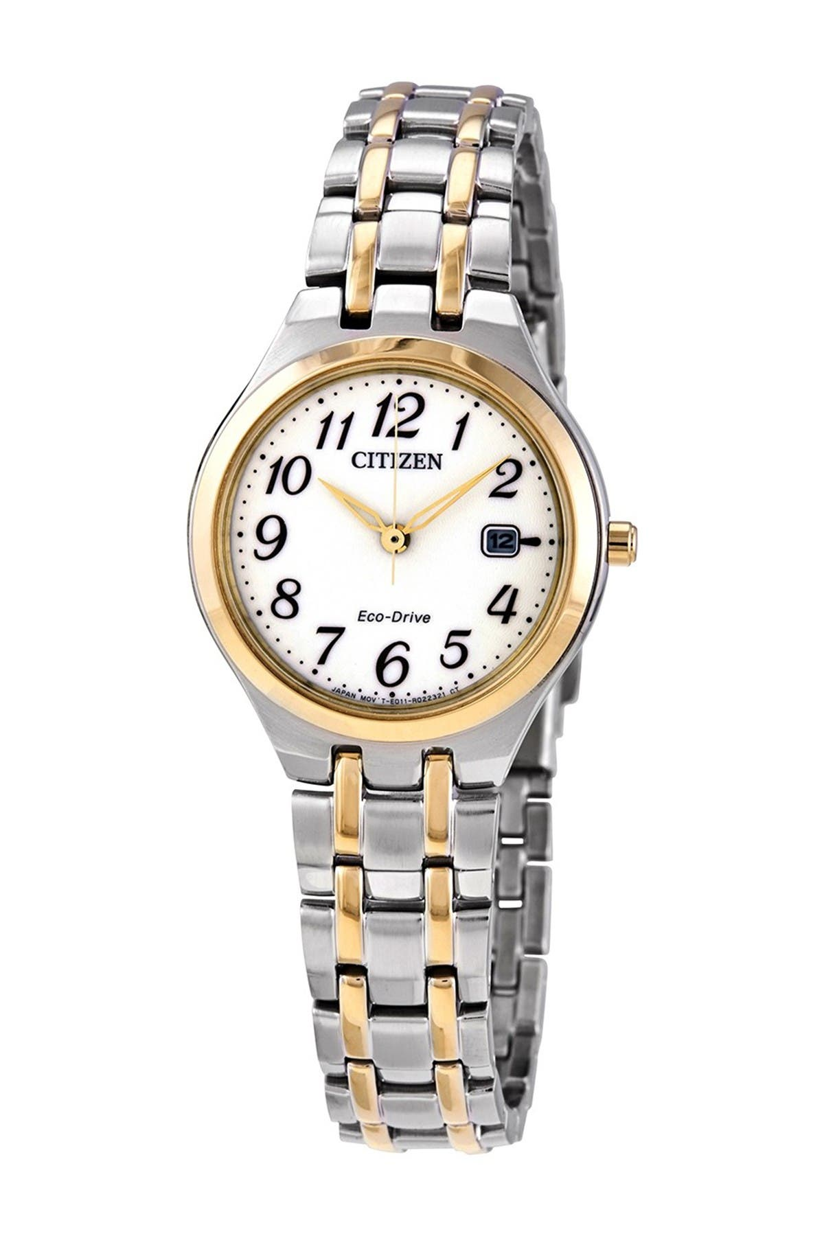 Image of Citizen Women's Eco-Drive White Dial Watch, 28mm