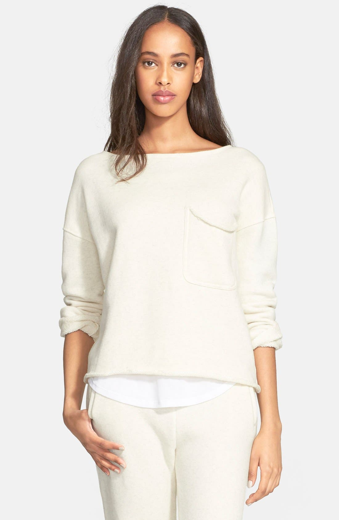 ,                             Brushed French Terry Sweatshirt,                             Main thumbnail 1, color,                             240