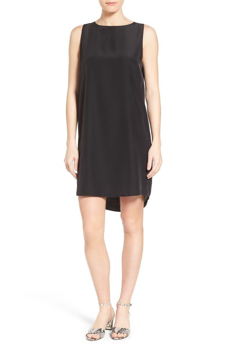 HALOGEN<SUP>®</SUP> WOVEN TANK DRESS, Main, color, 001