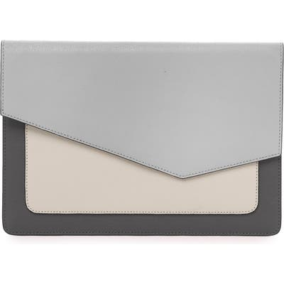 Botkier Cobble Hill Colorblock Leather Flap Clutch - Grey