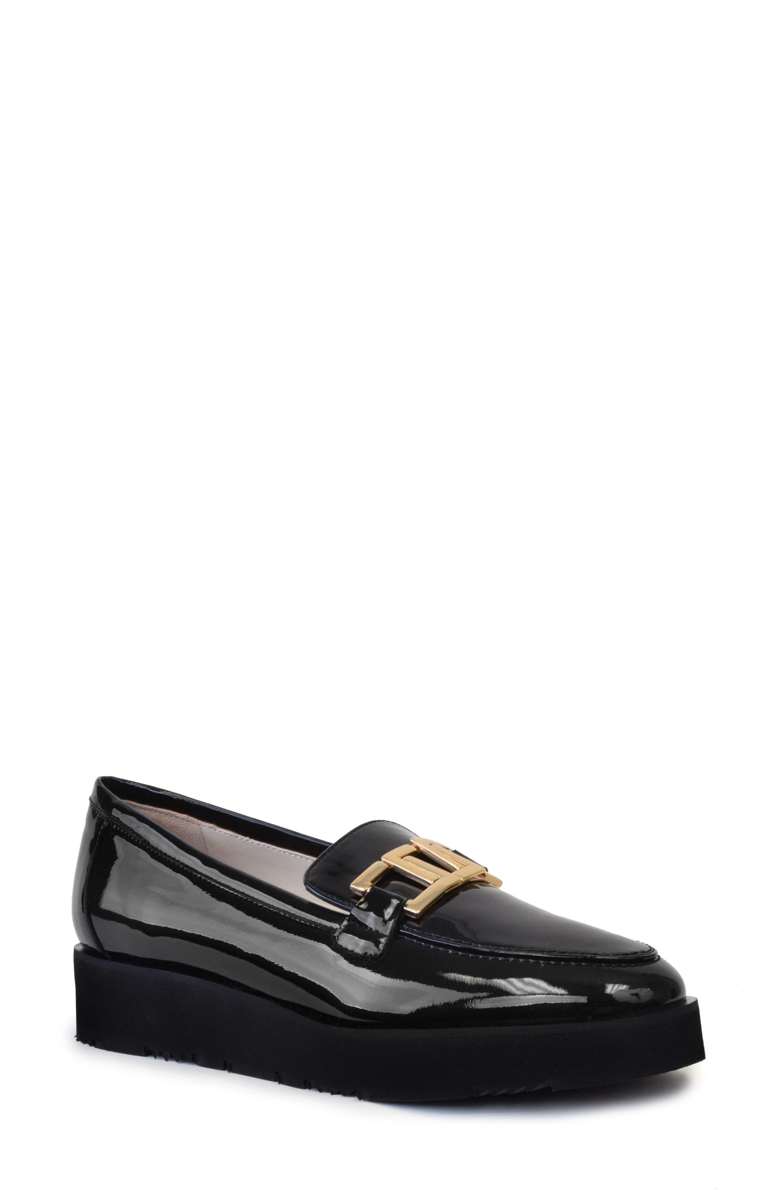 Elia Patent Leather Platform Loafer