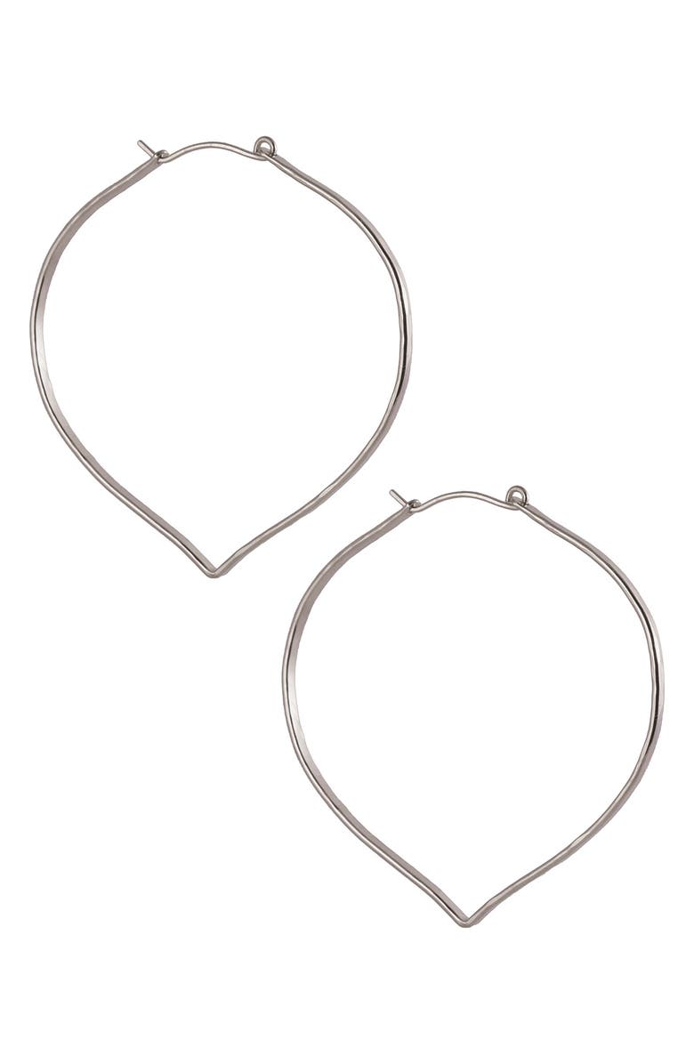 NASHELLE Small Blade Hoop Earrings, Main, color, SILVER