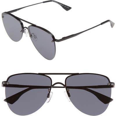 Le Specs The Prince 57Mm Aviator Sunglasses - Black