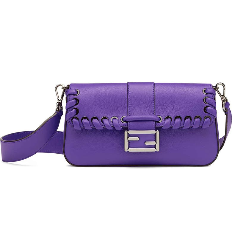 FENDI 'Dolce' Calfskin Leather Baguette, Main, color, 523