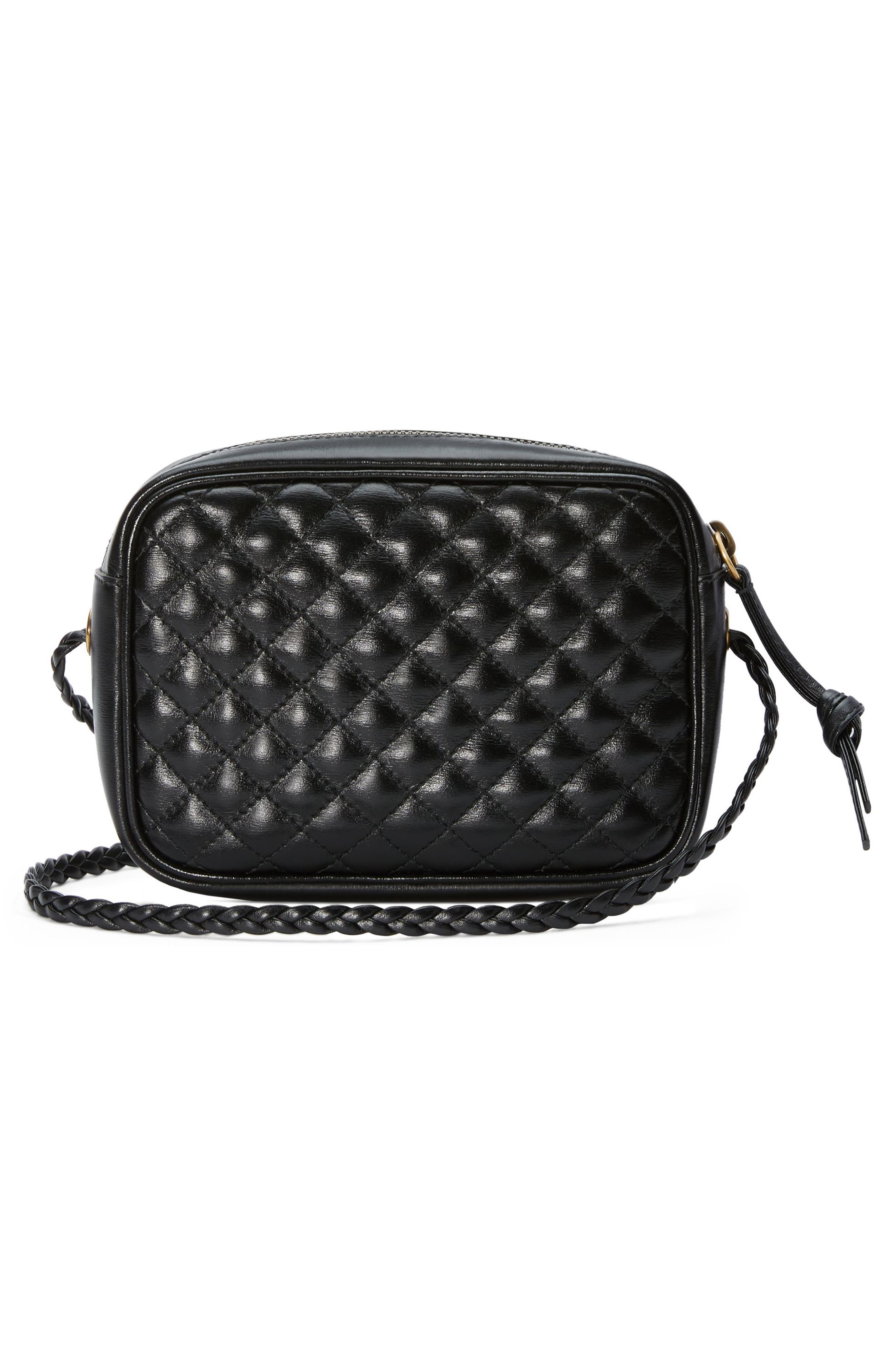 ,                             Small Quilted Leather Camera Bag,                             Alternate thumbnail 2, color,                             NERO/ VERT/ RED