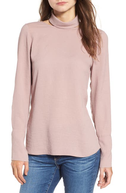 Image of Trouve Cutout Turtleneck Top