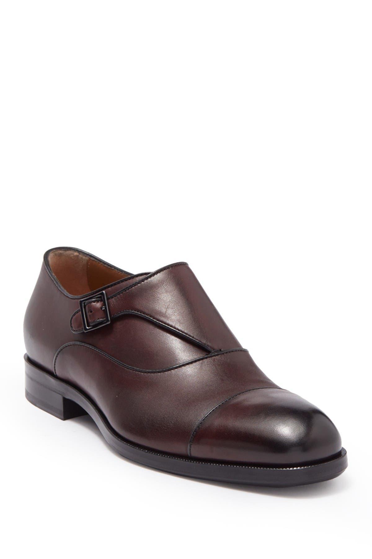 Image of BOSS Stanford Leather Mock Strap Loafer