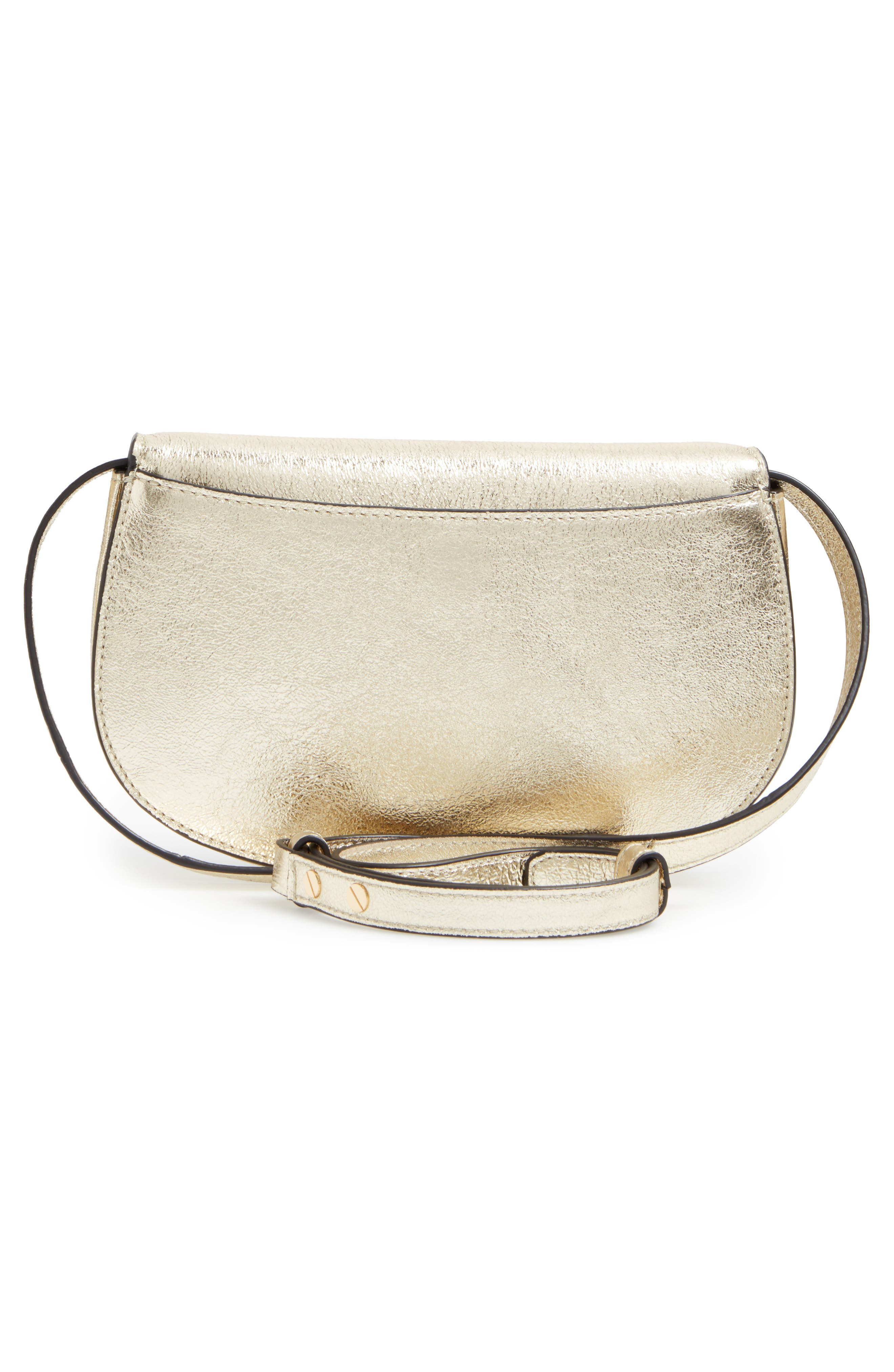 ,                             Jamie Metallic Leather Clutch,                             Alternate thumbnail 3, color,                             701