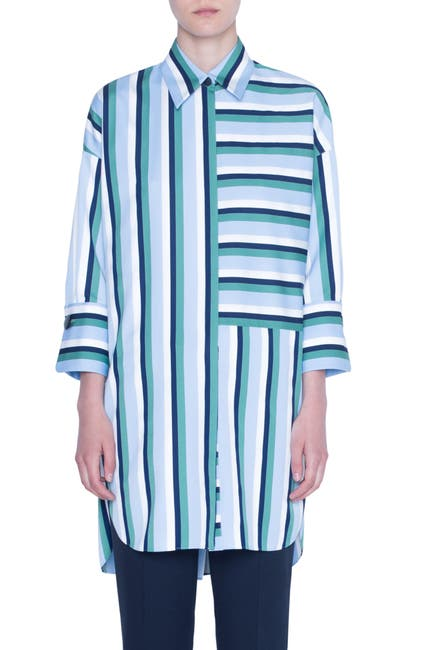 Image of Akris punto MLTICLR PATCHWORK STRIPE TUNIC