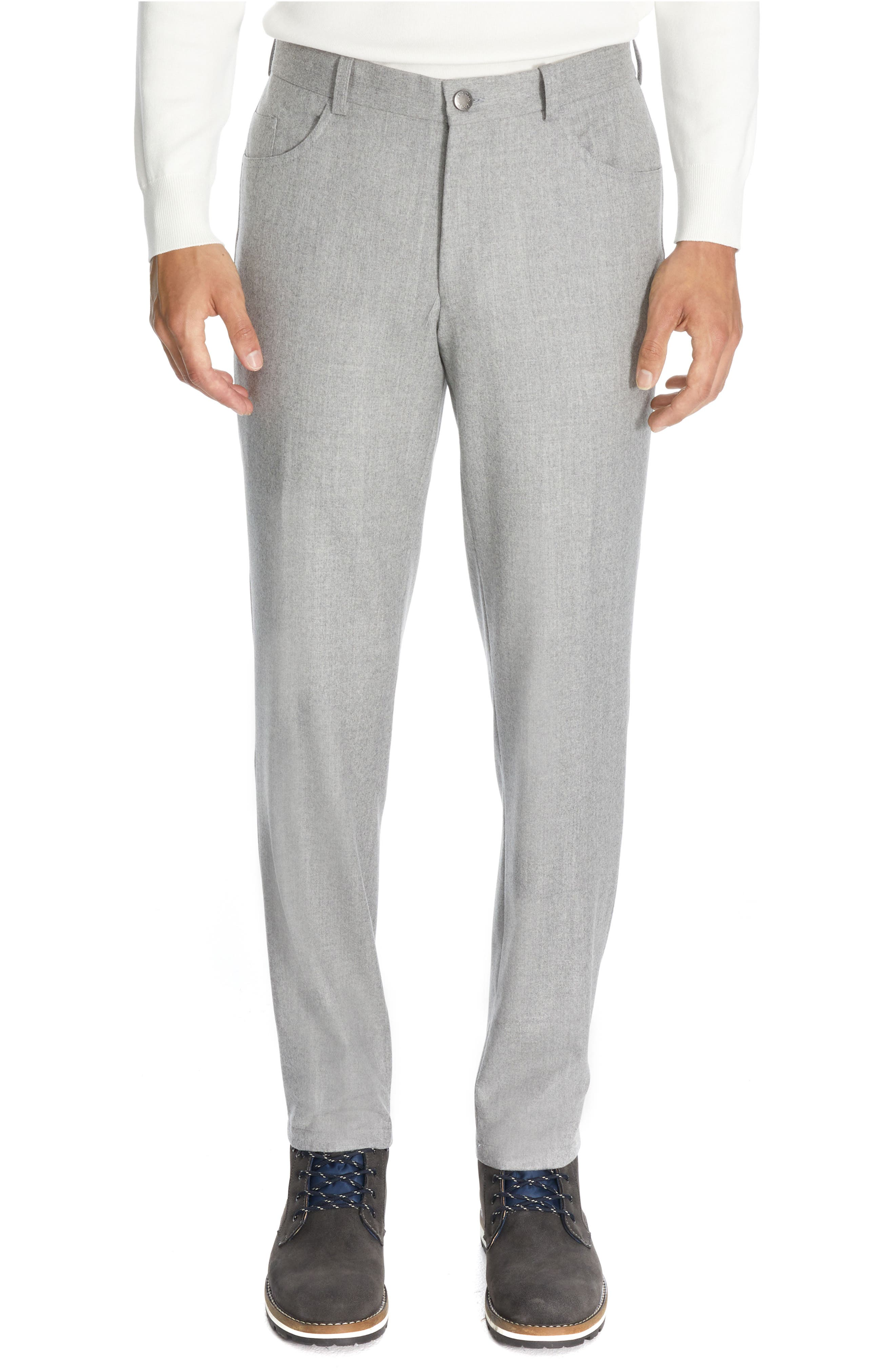 Sage Feather Wool Flannel Pants