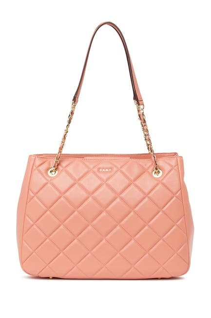 Image of DKNY Barbara Quilted Leather Tote Bag