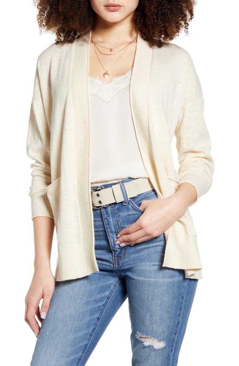 MADEWELL Bradley Cardigan Sweater, Main, color, ANTIQUE CREAM