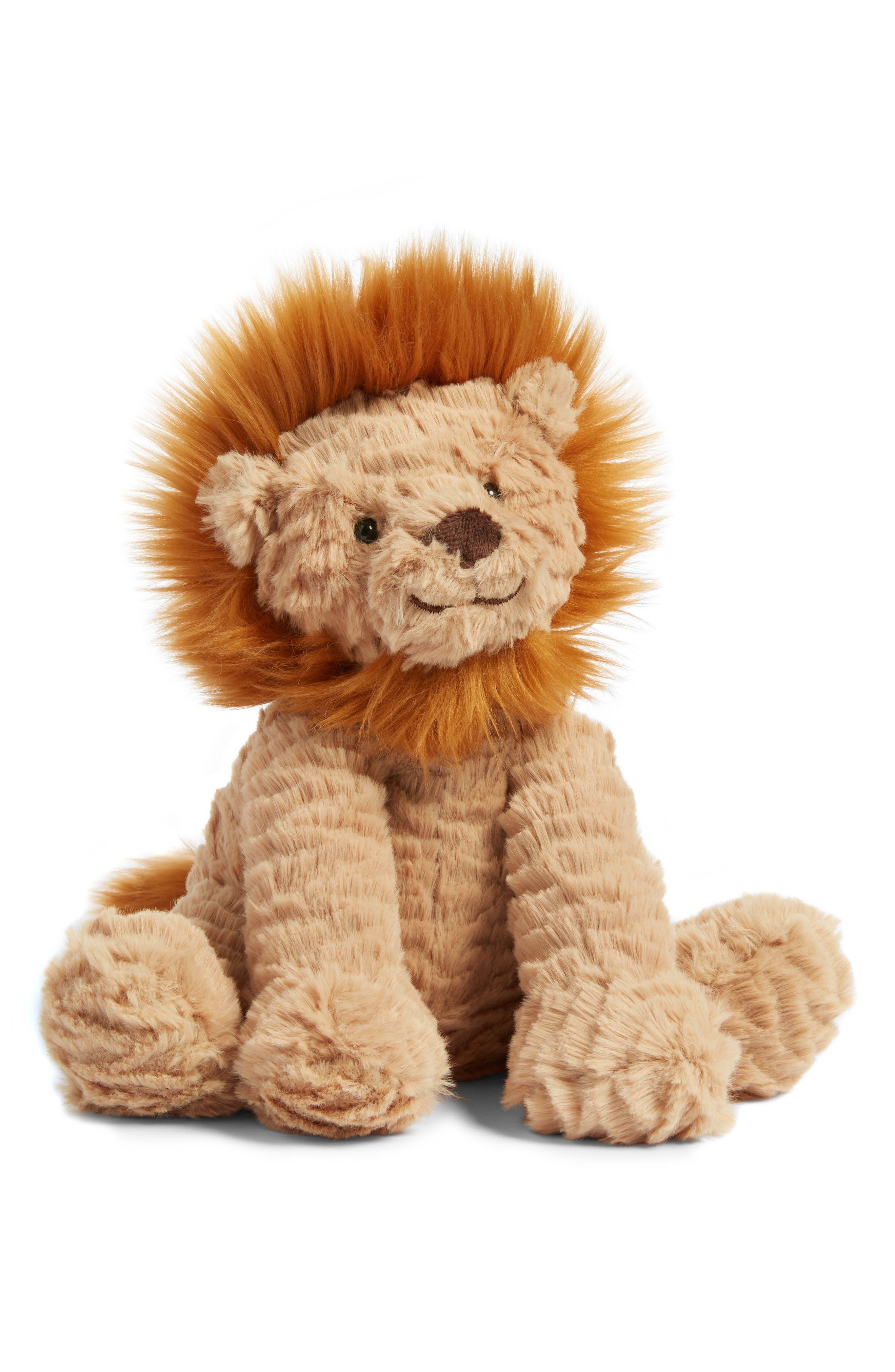 'Fuddlewuddle Lion' Stuffed Animal, Main, color, BROWN