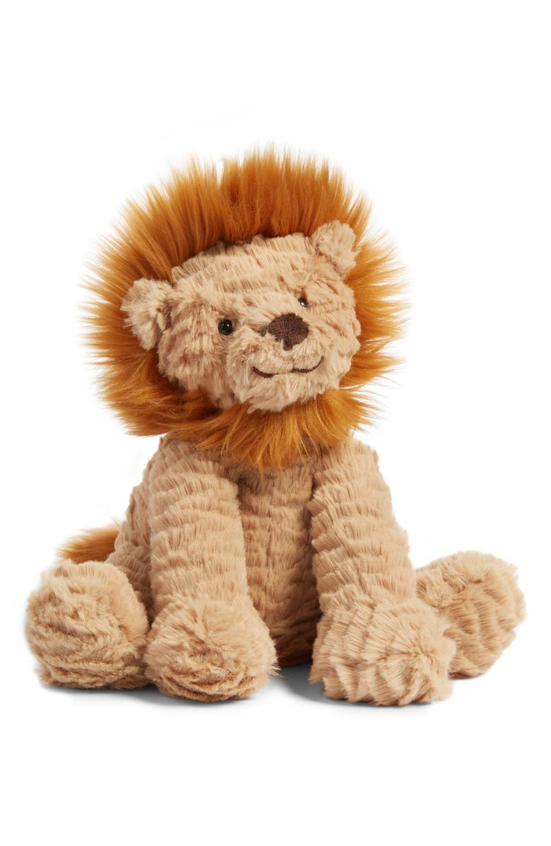 JELLYCAT Fuddlewuddle Lion Stuffed Animal, Main, color, BROWN