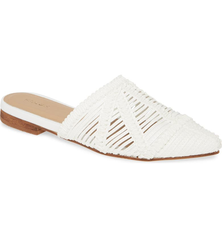 KAANAS Madeira Woven Mule, Main, color, IVORY