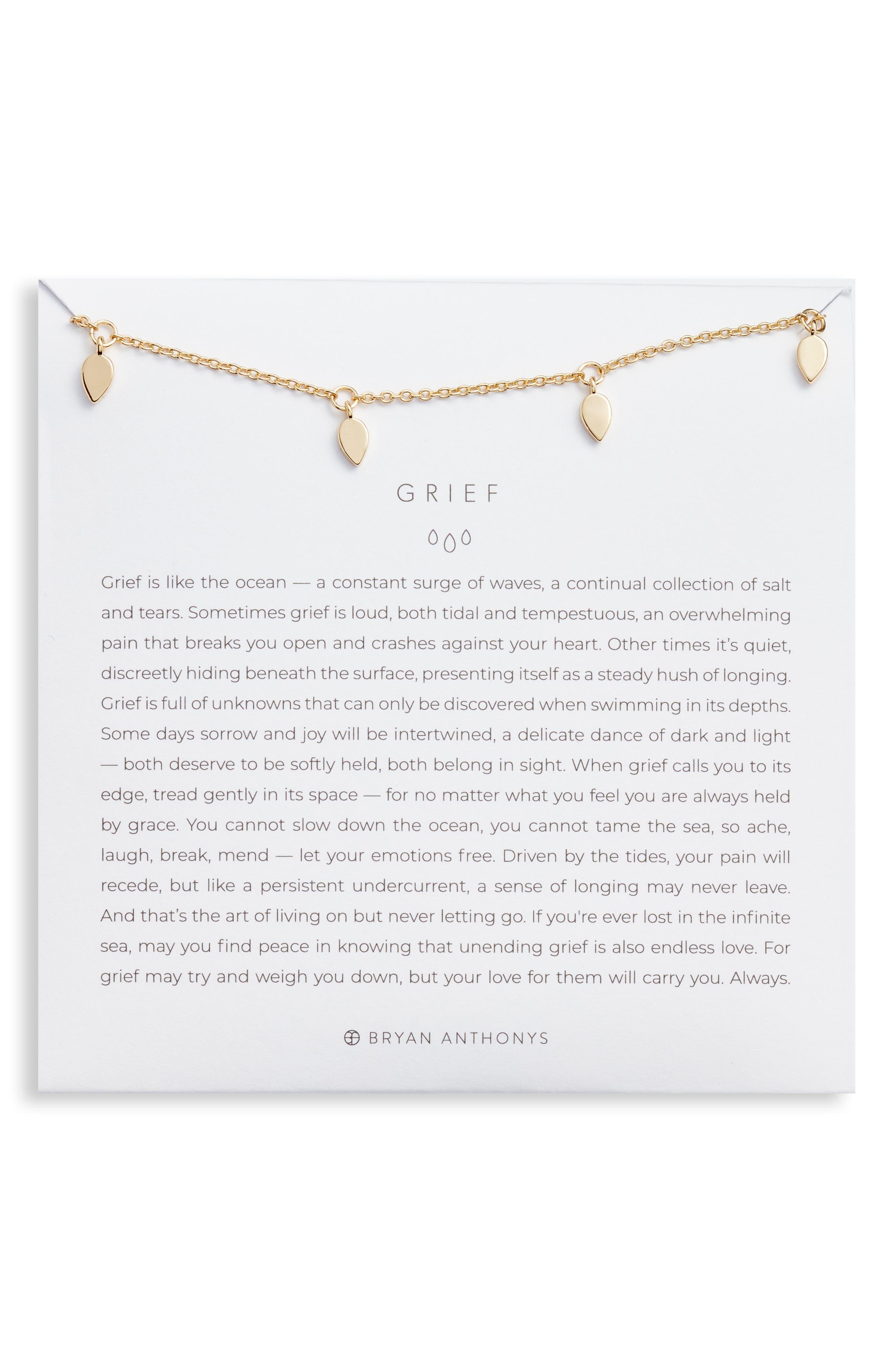 Grief Teardrop Necklace in 14K Gold at Nordstrom
