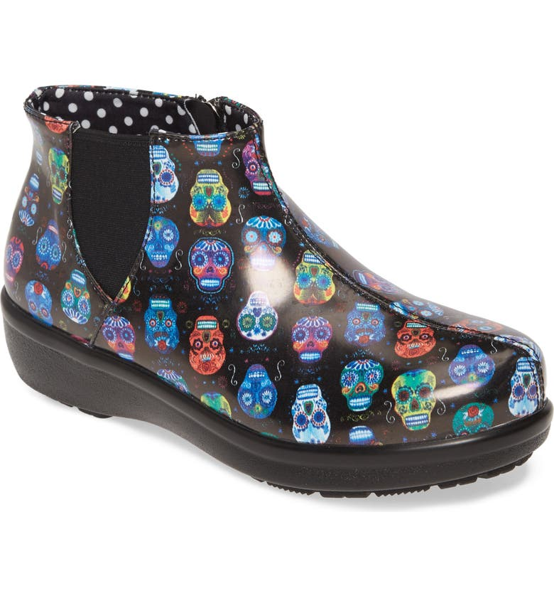 ALEGRIA Climatease Chelsea Bootie, Main, color, SUGAR SKULLS LEATHER