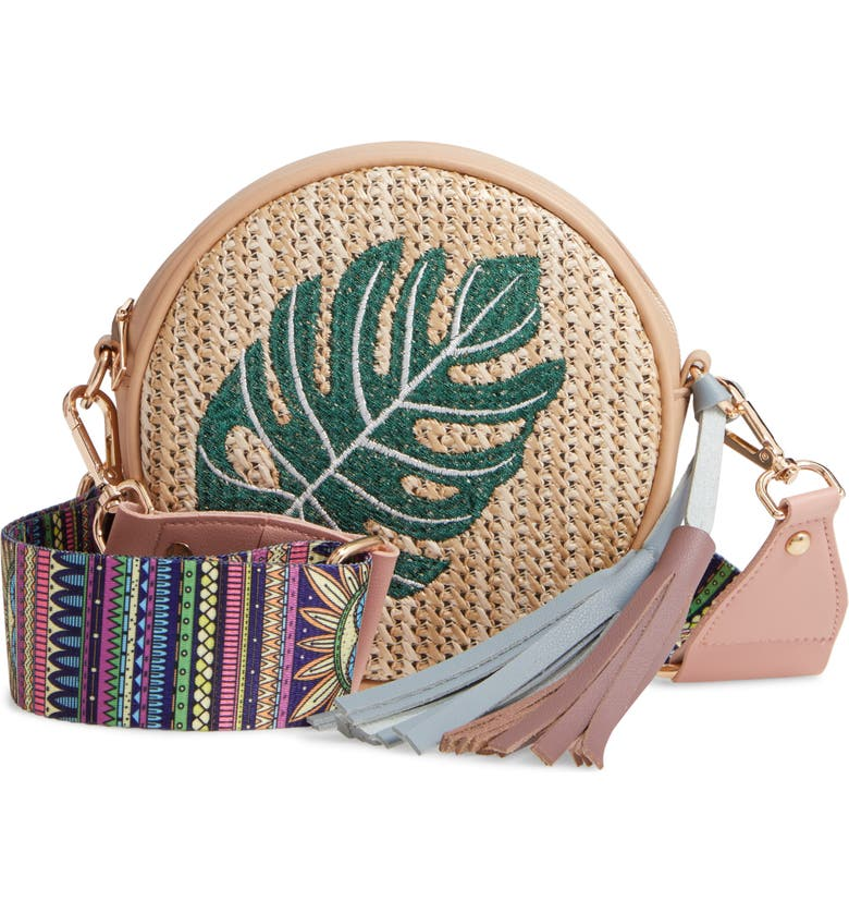 KNOTTY Woven Round Crossbody Bag, Main, color, 250