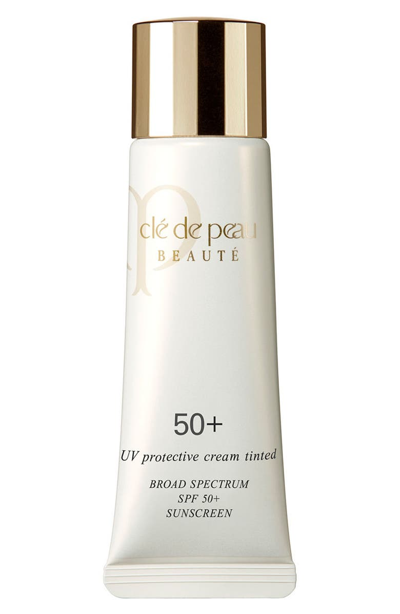 CLÉ DE PEAU BEAUTÉ UV Protective Cream Tinted SPF 50+, Main, color, IVORY