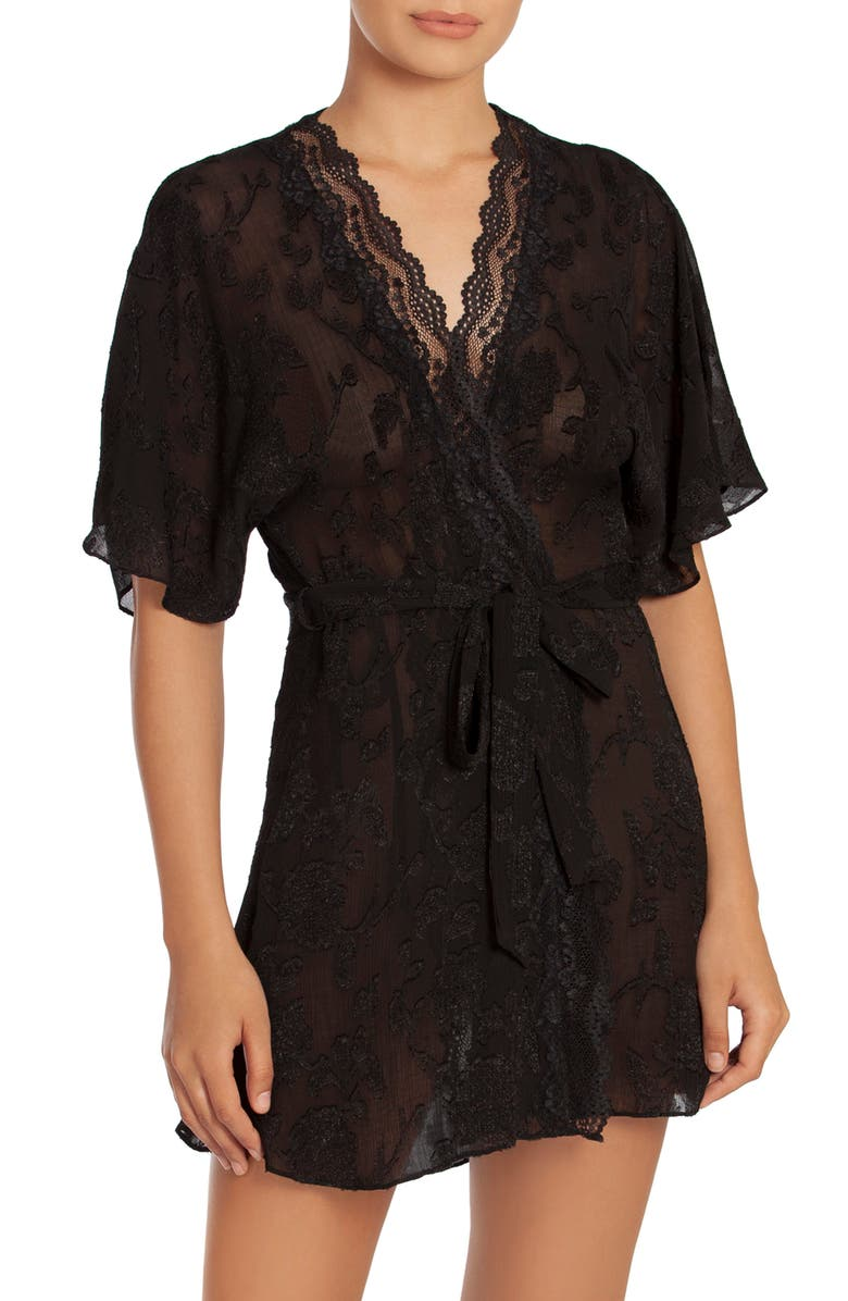 IN BLOOM BY JONQUIL Highland Lace Wrap, Main, color, BLACK