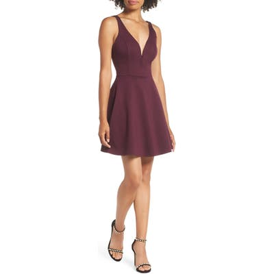 Lulus Love Galore Skater Minidress, Purple